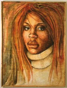 Davida, painting by Kathy Johnston