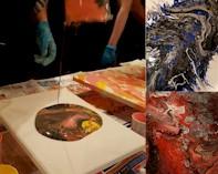 ACRYLIC POUR  - Winnipeg Art & Wine Painting Event
