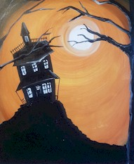 AT THE HAUNTED HOUSE - Virtual Paint Party