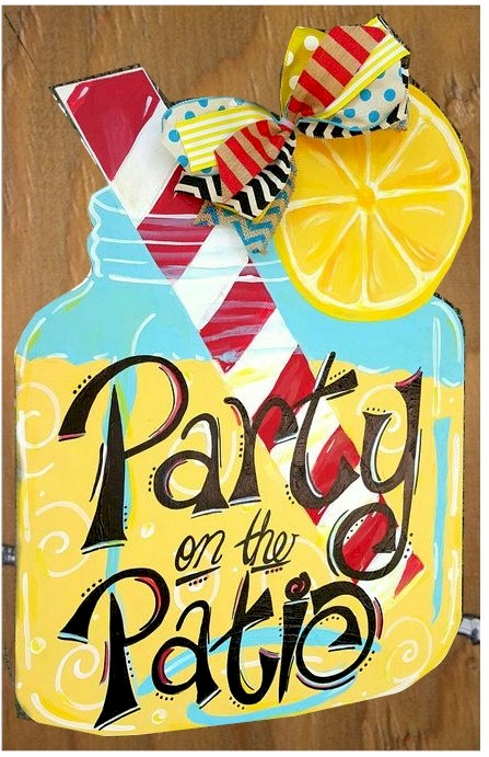 PARTY ON THE PATIO – paint on wood