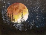 HOWL AT THE MOON - Virtual Paint Party