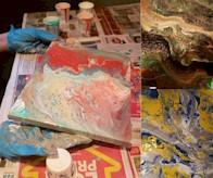 ACRYLIC PAINT POUR   - Winnipeg Art & Wine Painting Event