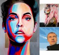 POP PORTRAIT  - Winnipeg Art & Wine Painting Event