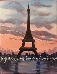 NIGHT IN PARIS  - Virtual Paint Party